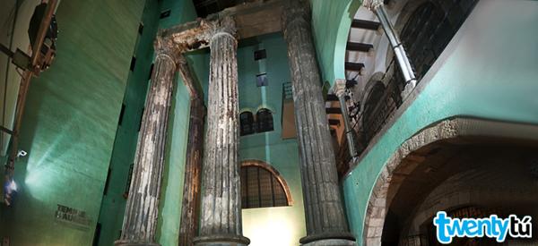Templo Augusto lugares secretos Barcelona