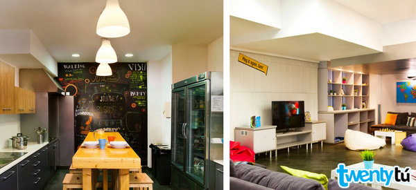 Poblenou hostel spaces